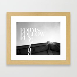 from follow fun Framed Art Print