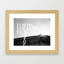 from follow fun Framed Art Print