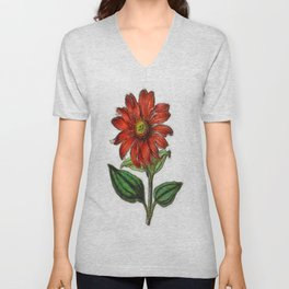 Coneflower Unisex V-Neck