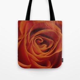 Orange rose closeup Tote Bag