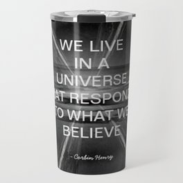 We Live In A Universe Quote - Society6 - Art - Luxury - Comforter - Bedding - Throw Pillows - Corbin Travel Mug