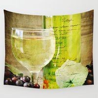 wine Wall Tapestries featuring Wine by ThePhotoGuyDarren
