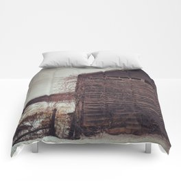 White Oak Road Barn (Winter) Comforters