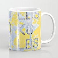 numbers Mugs featuring Big Numbers  by Ethna Gillespie
