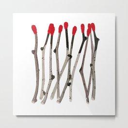 Stick Matches Metal Print