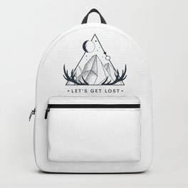 Let's Get Lost. Geometric Style Backpack