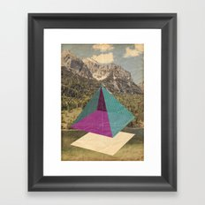 piramidi&nuvole Framed Art Print