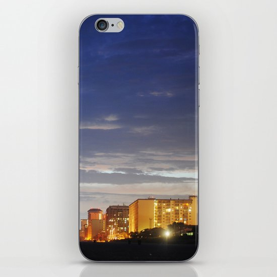 night time beach iPhone & iPod Skin