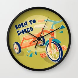 Born to Shred Vintage Tricycle Wall Clock