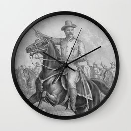 Colonel Roosevelt Leading Troops Wall Clock
