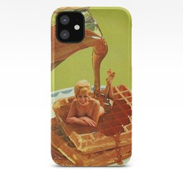 Pour some syrup on me - Breakfast Waffles iPhone Case