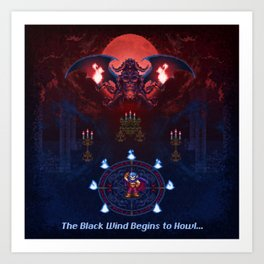 The Black Wind Art Print