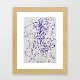 Purple Mirror Gypsy Framed Art Print