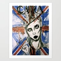 uk Art Prints featuring UK by Thomasine