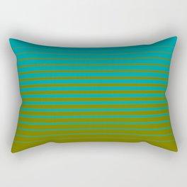 gradient stripes aqua olive Rectangular Pillow