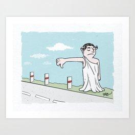 Hitchhiker Cesar Art Print