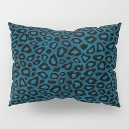Teal Leopard Animal Pattern Pillow Sham