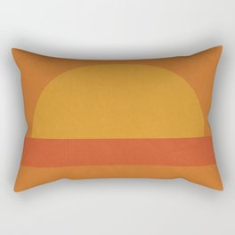 Retro Geometric Sunset Rectangular Pillow
