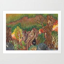 sylvan forest Art Print