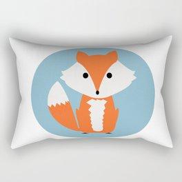 Orange Cartoon Fox Rectangular Pillow