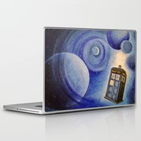 tardis Laptop & iPad Skins featuring TARDIS by Colunga-Art