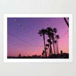 Lit Sunset Art Print