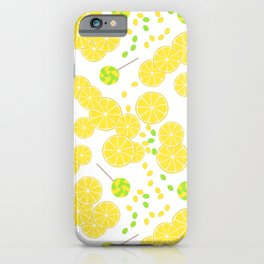 Candy sweets of lemon lollypops iPhone Case