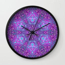 Pink, Purple, and Blue Mandala Wall Clock