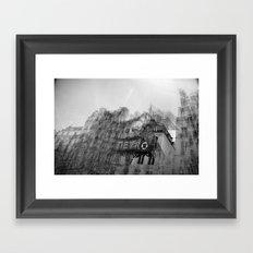 how it feels to say goodbye Framed Art Print