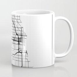 Minimal City Maps - Map Of Chicago, Illinois, United States Coffee Mug