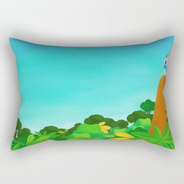 On top of the world with you Rectangular Pillow