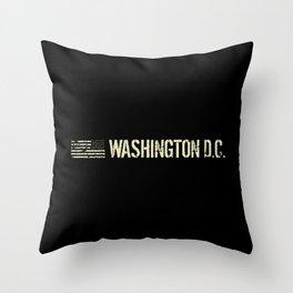 Washington D.C.: Black Flag Throw Pillow