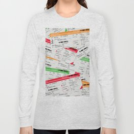 Airliner travel tickets Long Sleeve T-shirt