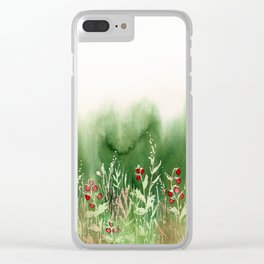 Strawberry Fields for an Indefinite Amount of Time Clear iPhone Case