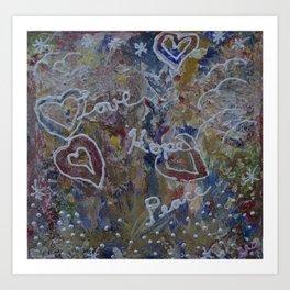 Love Hope Peace Art Print