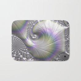Fractal Art-Opalescent Shell Bath Mat