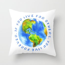 Live For Solidarity Throw Pillow