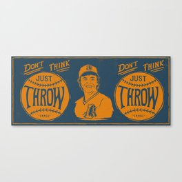 Don't Think (navy) Canvas Print