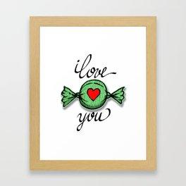 I love you (green) Framed Art Print