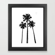 Palm Trees Three Framed Art Print