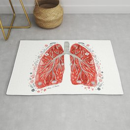 folky lungs Rug