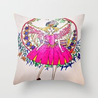 fairy tale Throw Pillows featuring Fairy tale by Daizy Boo