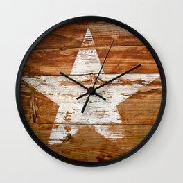 Faded Star Wall Clock