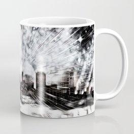 Feuerwerk über der Stadt Coffee Mug