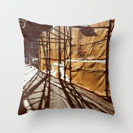scaffolding Throw Pillow