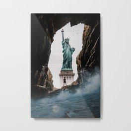 Wave on Freedom by GEN Z Metal Print