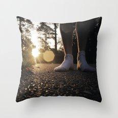 Louisiana Asphalt & White Socks Throw Pillow