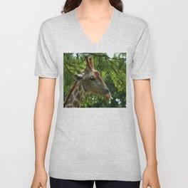 Giraffe Portrait Unisex V-Neck