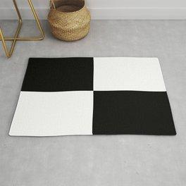 Black & White Squares Rug