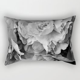 Peonies Black and White 1 Rectangular Pillow